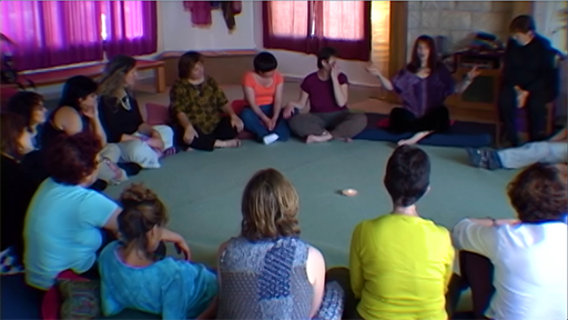 Israeli and Arab women gather for a circlework meeting for peace.