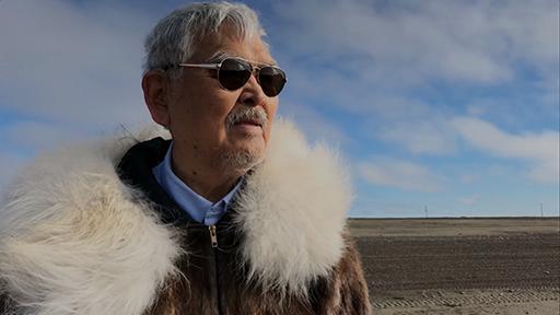 Jacob Anagi Adams on the shore of Alaska's North Slope.